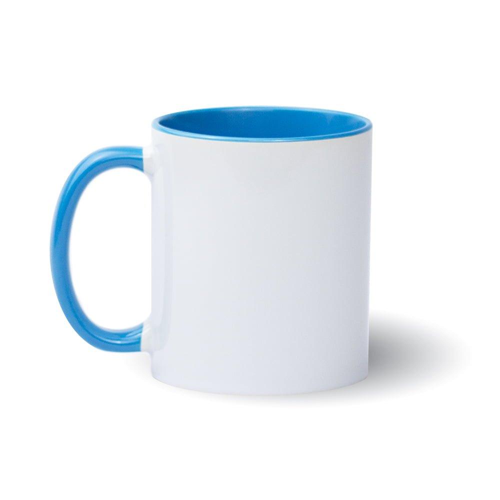Izveido dizainu pats - gaiši zila krūze