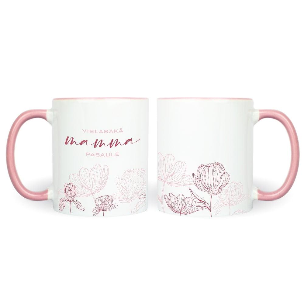 dāvana māmiņdienā rozā krūze