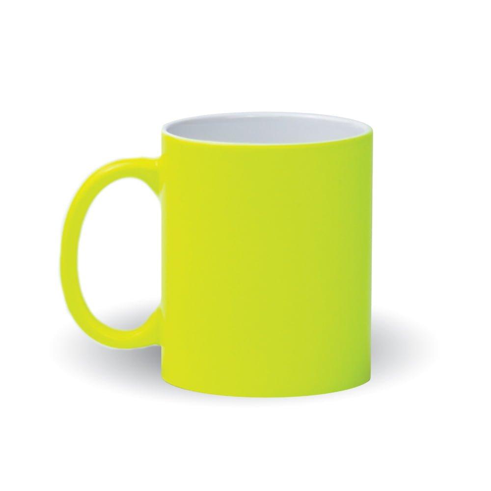 Izveido dizainu pats - neona dzeltena krūze