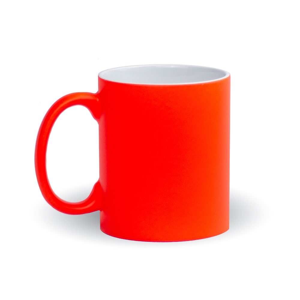 Izveido dizainu pats - neona oranza krūze