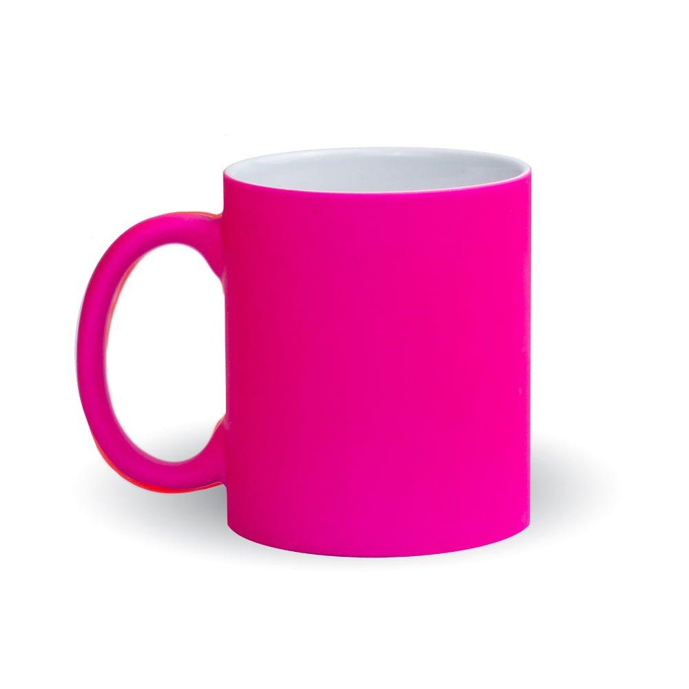 Izveido dizainu pats - neona roza krūze