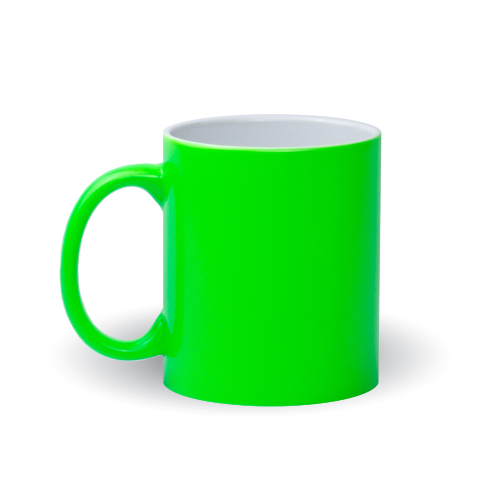 Izveido dizainu pats - neona zaļa krūze