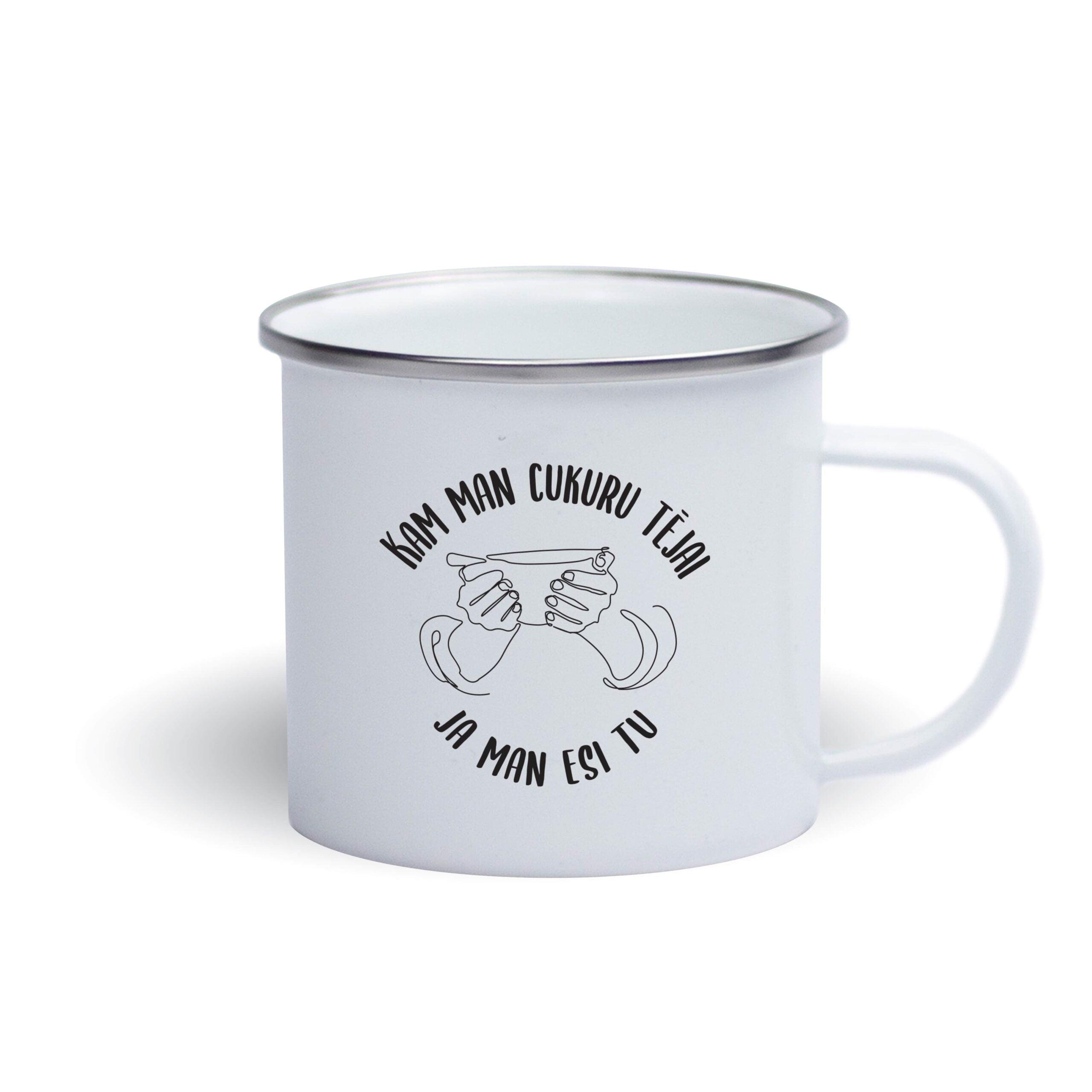 Emaljēta Metāla krūze - tēja bez cukura