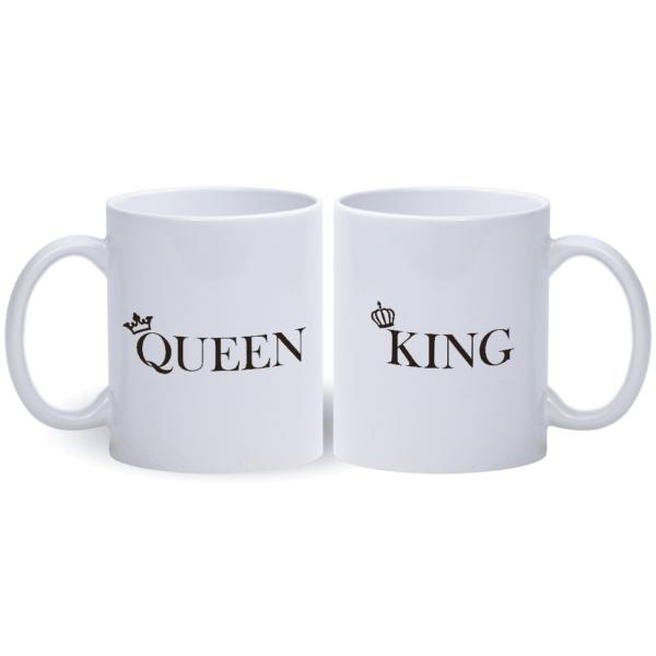 Queen un king krūzes