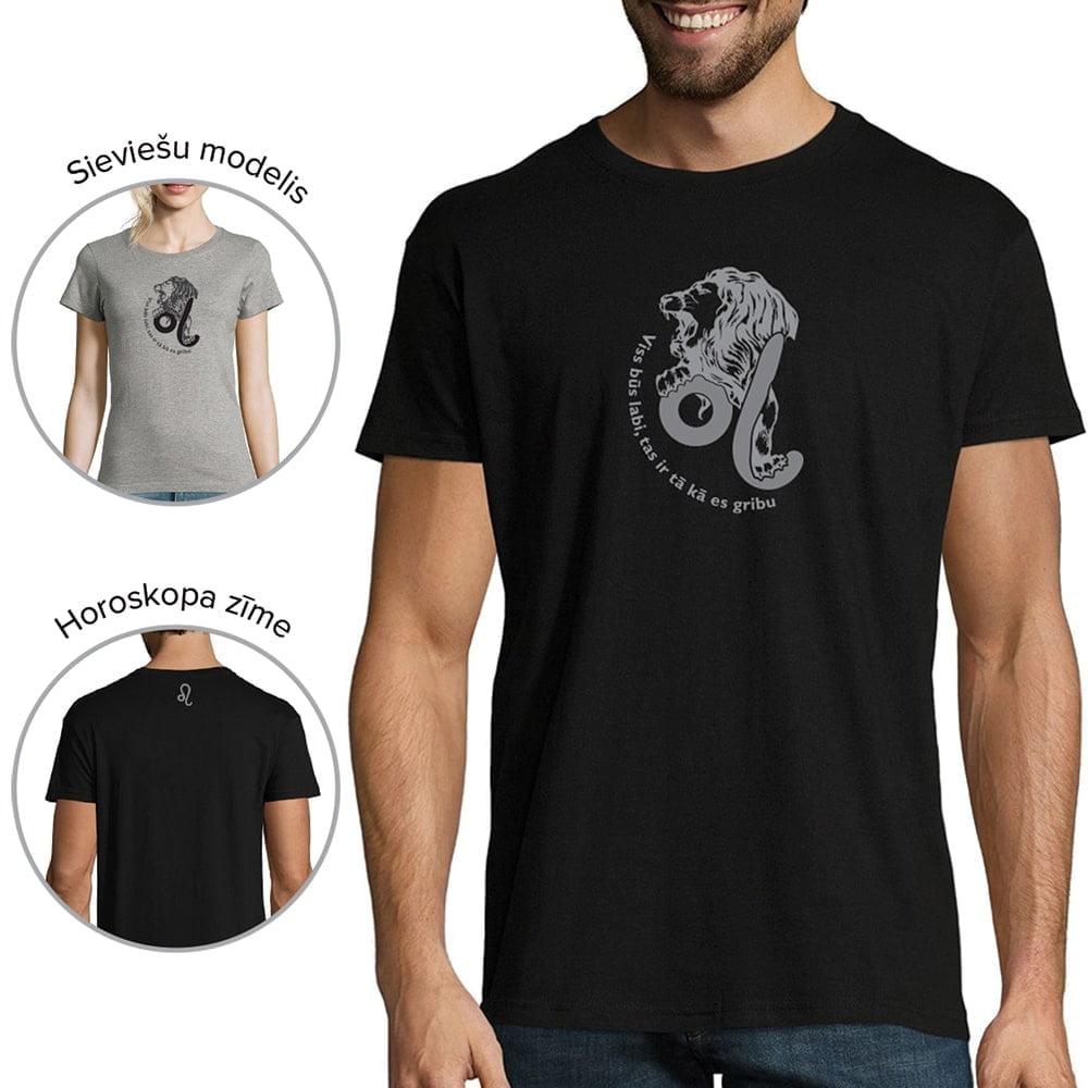 krekls ar horoskopa zīmi lauva