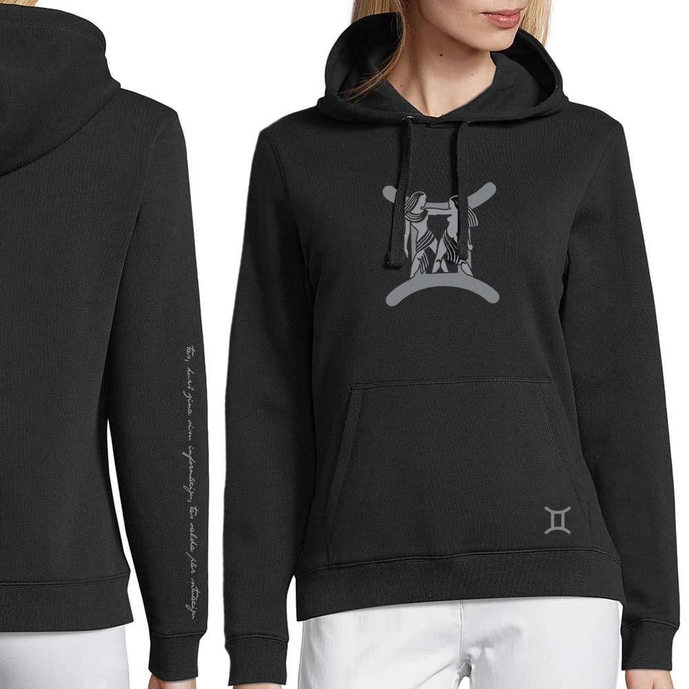 sieviešu džemperis ar horoskopa zīmi dvīņi