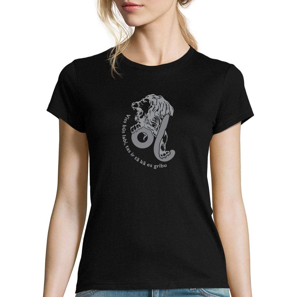 sieviešu krekls ar horoskopu lauva