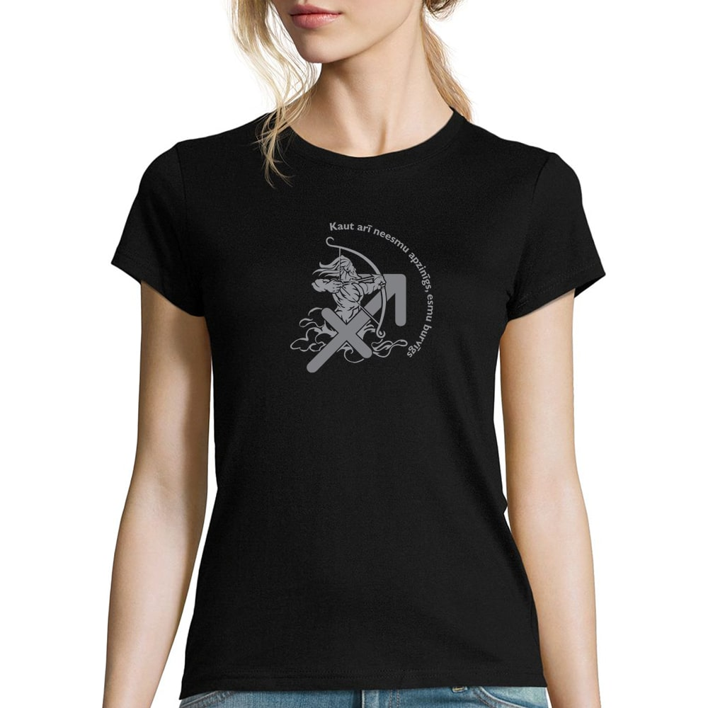 sieviešu krekls ar horoskopa zīmi strēlnieks