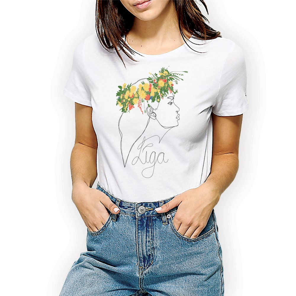 Līga ar vainagu krekls